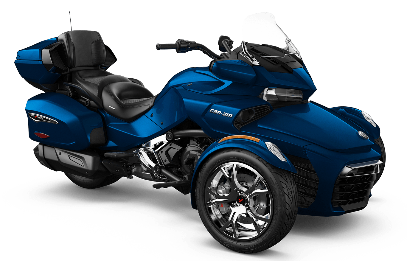 Blue Can-am Spyder