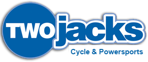 Two Jacks Cycle & Powersports Blue & White logo