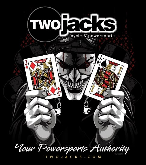 Joker holding Jack of Diamond and Jack of Spades cards